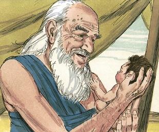 Abraham Holding Baby Isaac - Matt McWilliams