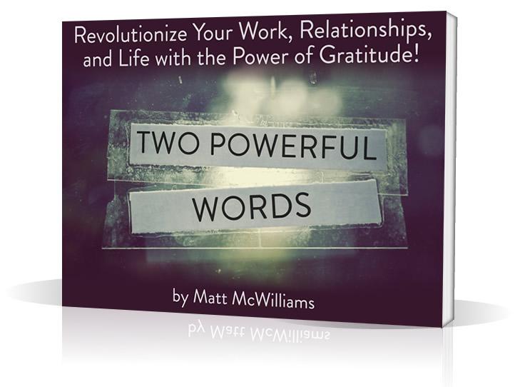 Thank You Revolution Book Matt McWilliams