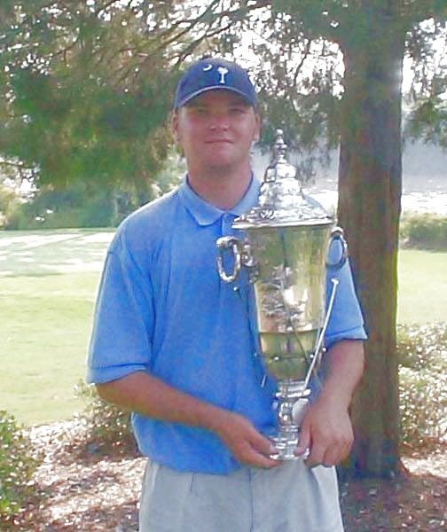 Matt McWilliams Holding 2000 Carolinas Amateur Trophy