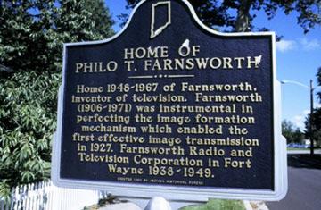 Philo T. Farnsworth Fort Wayne Home Plaque