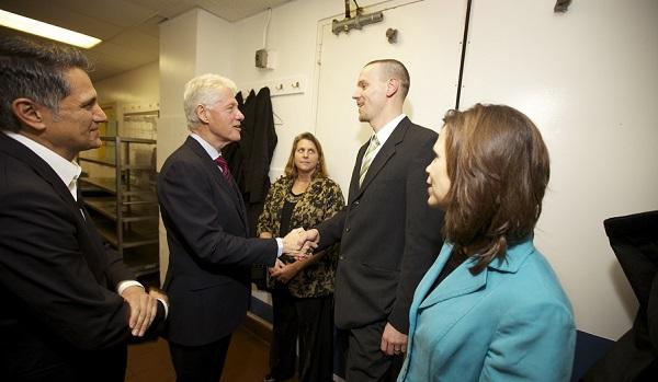 Guy Meeting Bill Clinton