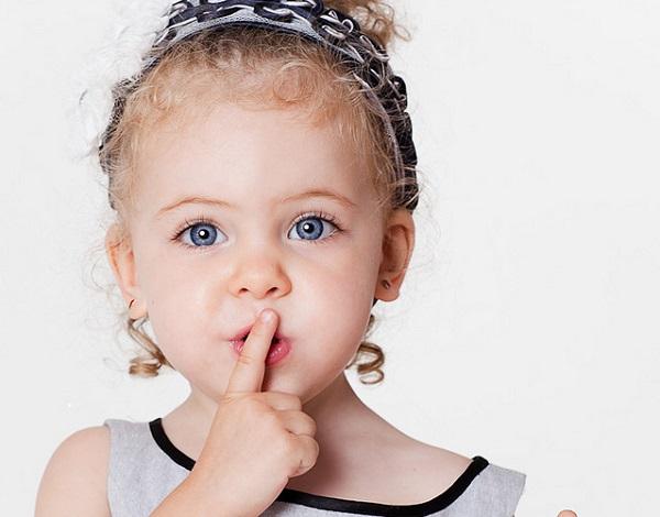 Child going Shhhhh