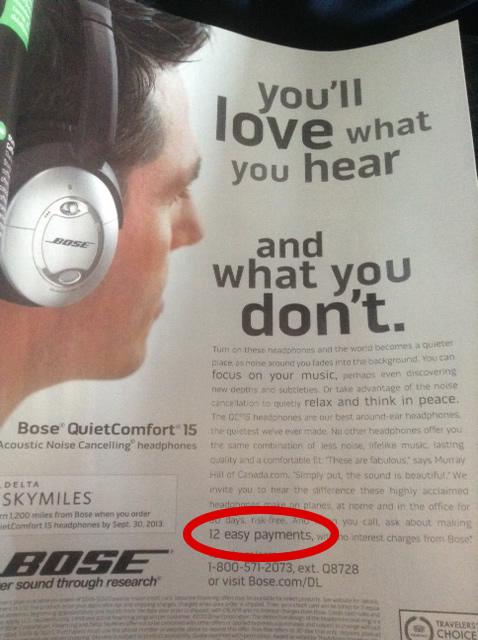 Finance Bose Headset