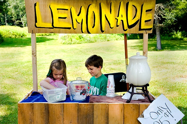 When life hands you lemons, open a lemonade stand