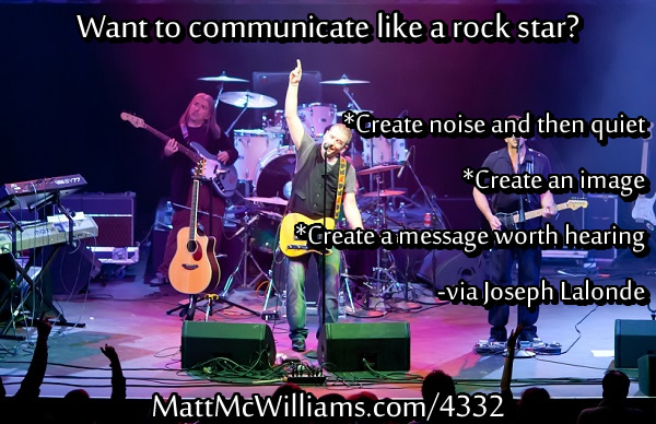 Communicate Like a Rock Star
