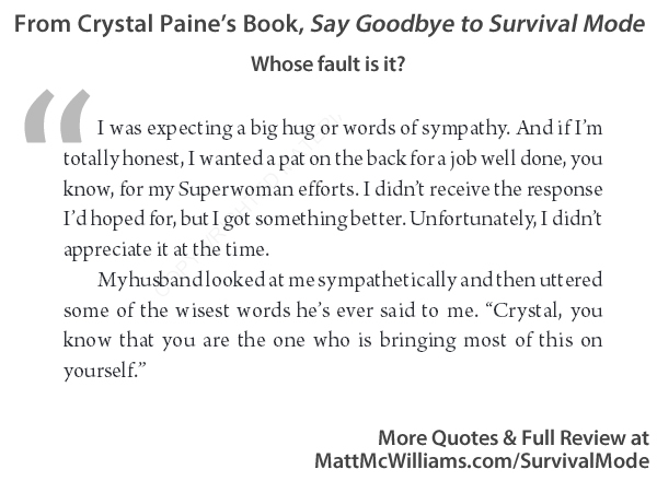 Survival Quotes | Quotes From Crystal Paine S Goodbye Survival Mode