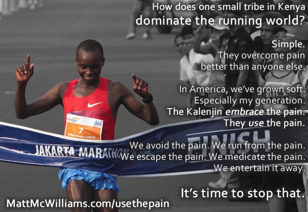 Kenyan runner secret - overcoming pain