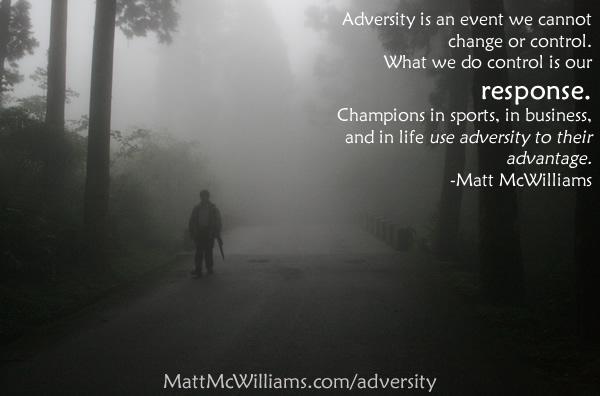 Overcoming adversity quote