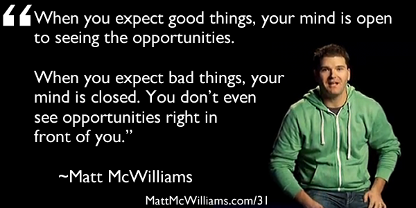 Expect Good Things Quote