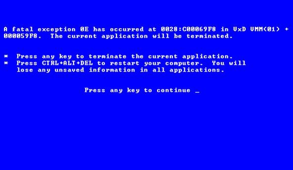 Blue Screen of Deaht as April Fool's Prank