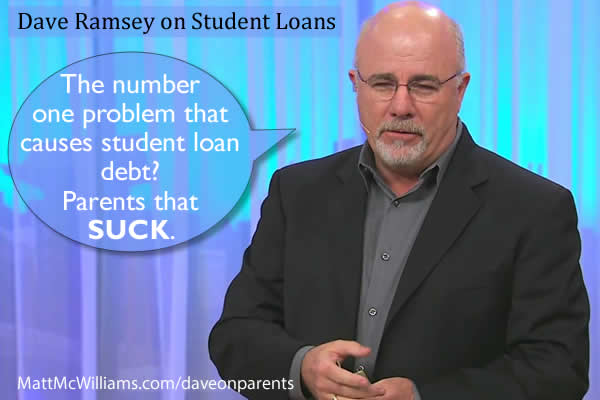 dave ramsey on parents