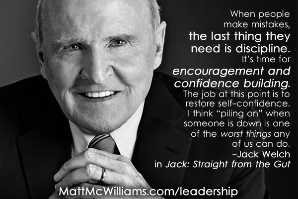 jack welch mistakes confidence building