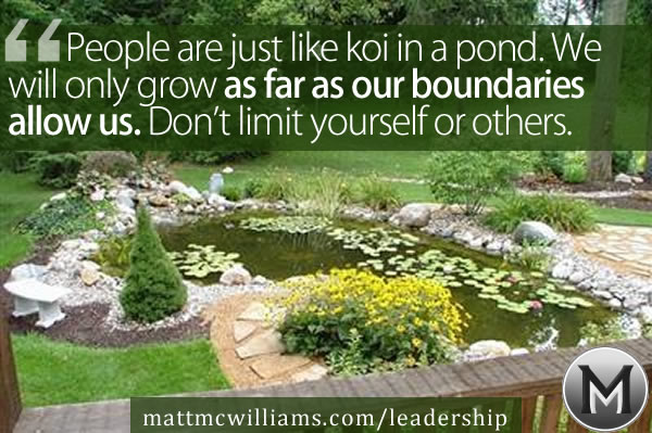 Leadership Lesson from Koi Pond