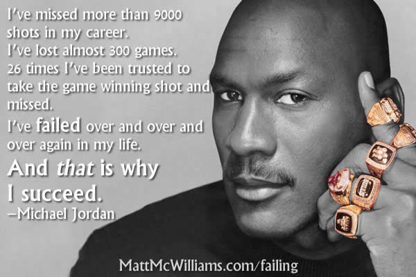 Michael Jordan Quote on Failure