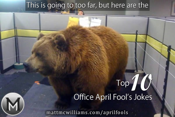 Office April Fools Prank for Cubicle