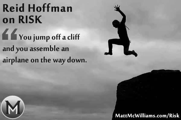 Reid Hoffman Jump off a cliff quote