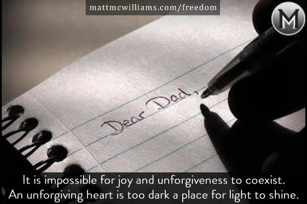 Forgiving my dad set me free