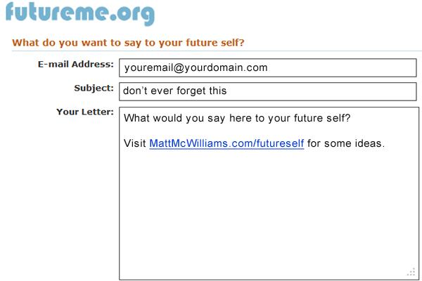FutureMe.Org Email