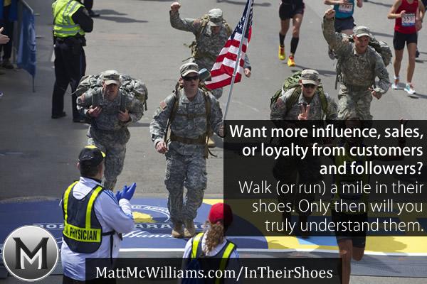 Soldiers running a marathon