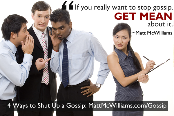 How to stop office gossip