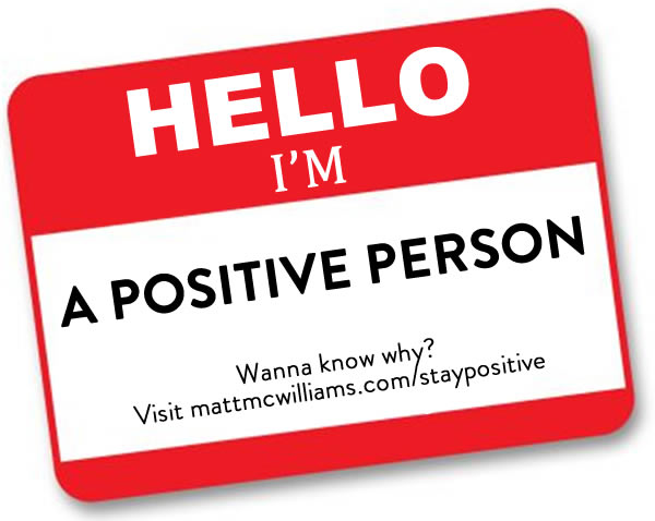 I am a positive person