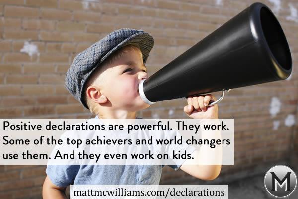 World Changing Kids - Positive Declarations