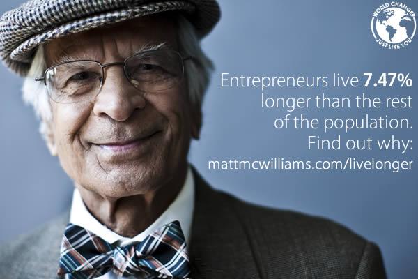 Why Entrepreneurs Live Longer