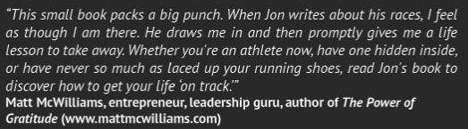 Jon Stolpe On Track Book Endorsement