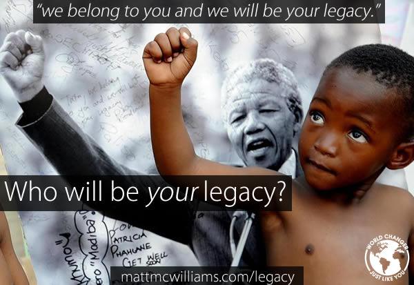 Photo of Nelson Mandela and Child Pose