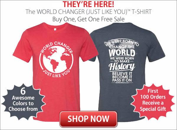 World Changer T-Shirt On Sale