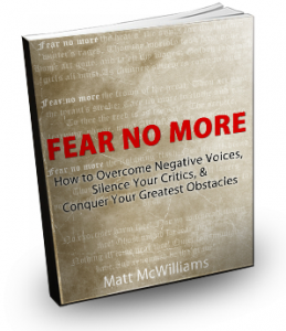 Fear No More Book by Matt McWilliams
