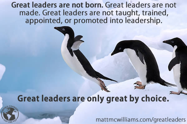 Great Leaders by choice