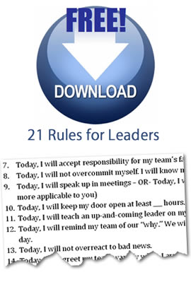 Rules for Leaders