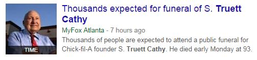 Truett Cathy Funeral