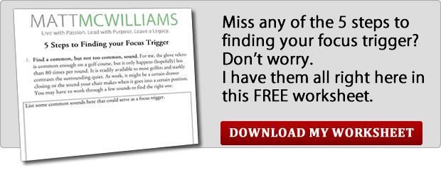 Focus Trigger Worksheet