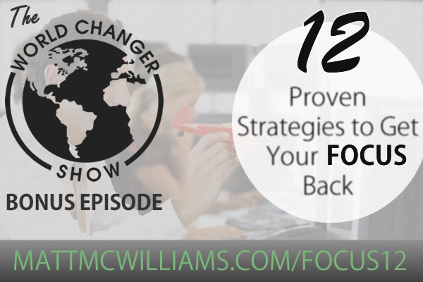 How to get your focus back and refocus