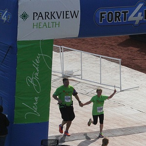 Matt and Tara McWilliams Running Half Marathon