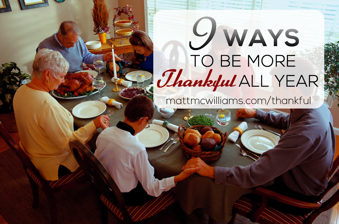 9 ways to be thankful all year - not just at Thanksgiving