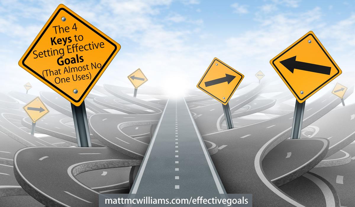 4 keys to setting effective goals - from Michael Hyatt's Goals Course
