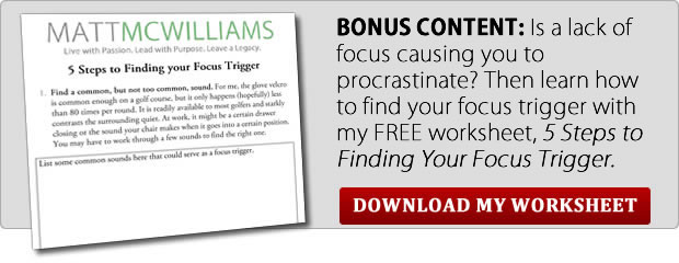 Stop procrastinating and back your focus