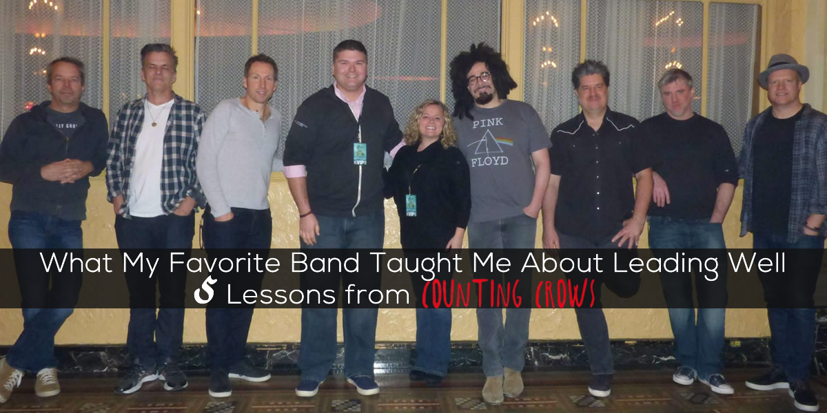 Leadership lessons from the band Counting Crows