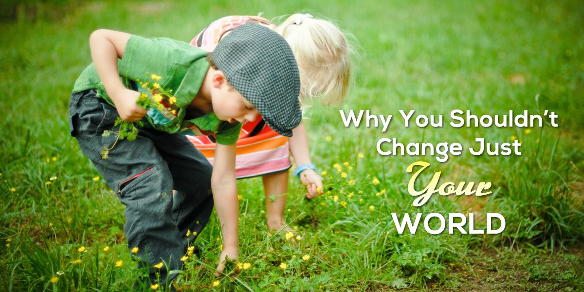 Why You Shouldn't Change Just Your World