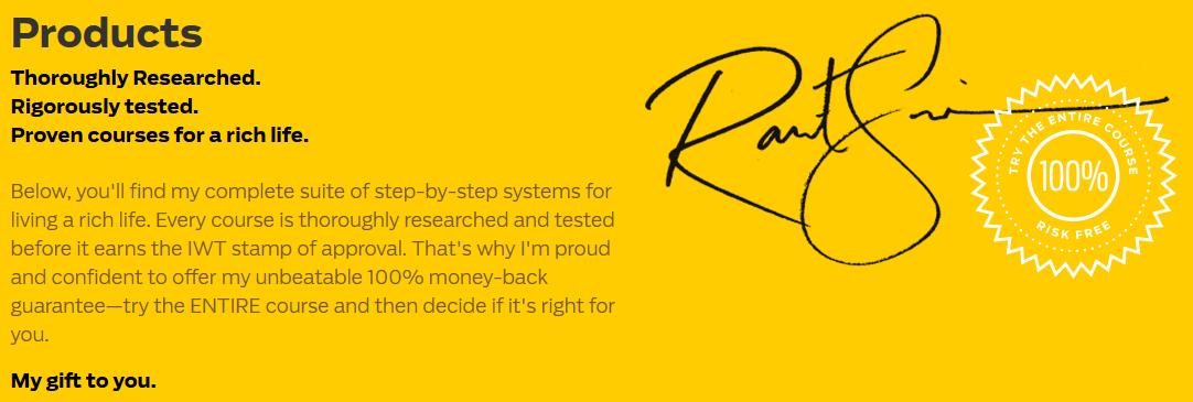 Ramit Sethi's Zero To Launch Money Back Guarantee