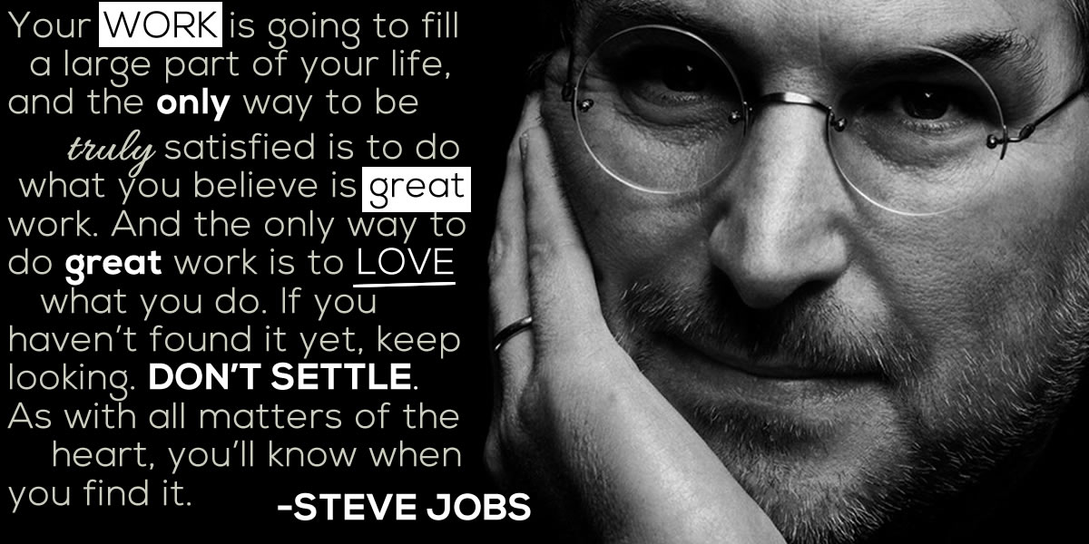 Steve Jobs Quote: Your work is going to fill a large part of your