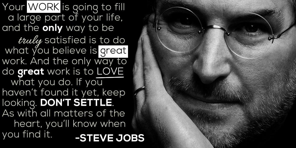 Steve Jobs Quote Love Work