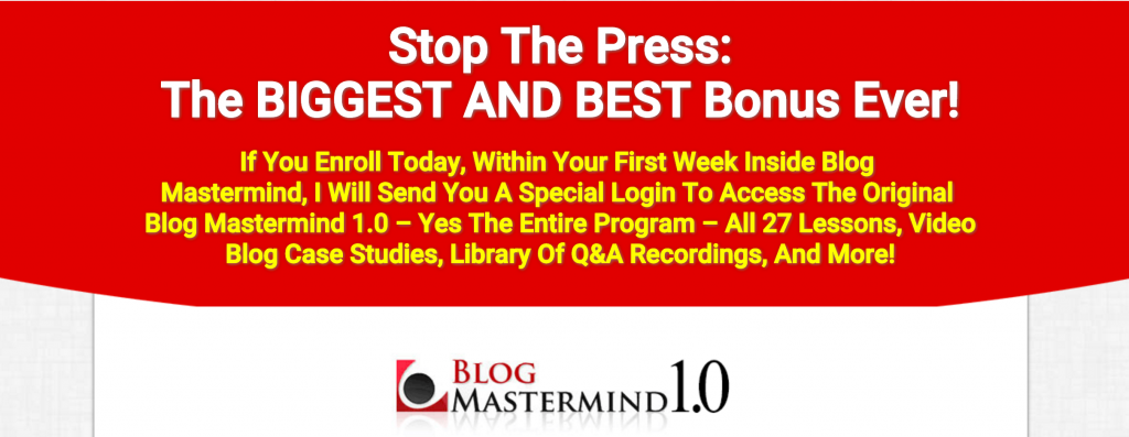 Blog Mastermind 2.0 Bonus, Blog Mastermind 2.0, Yaro Starak, Blog bonus