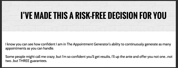Josh Turner, The Appointment Generator, Review, Lead Generation, Guarantee