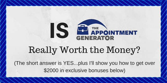 Josh Turner, The Appointment Generator, Review, Course, Lead Generation