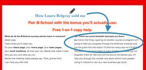 Laura Belgray B School swipe