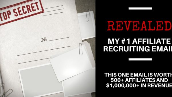 Email template for recruiting affiliates